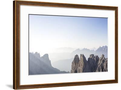 "Tre Cime Di Lavaredo (Drei Zinnen), Sexten Dolomites, Italy: The Via Ferrata ""Paternkofel"" Morning-Axel Brunst-Framed Photographic Print"