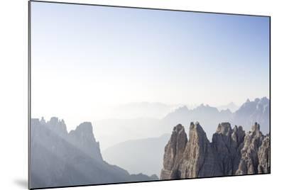 "Tre Cime Di Lavaredo (Drei Zinnen), Sexten Dolomites, Italy: The Via Ferrata ""Paternkofel"" Morning-Axel Brunst-Mounted Photographic Print"
