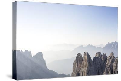 "Tre Cime Di Lavaredo (Drei Zinnen), Sexten Dolomites, Italy: The Via Ferrata ""Paternkofel"" Morning-Axel Brunst-Stretched Canvas Print"
