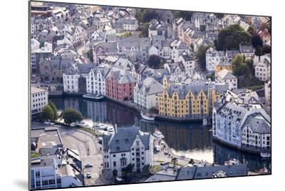 ?lesund, M?re Og Romsdal County, Norway: The Citiy Center Viewed From The Aksla Viewpoint-Axel Brunst-Mounted Photographic Print