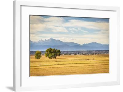 Denver, CO, USA: Landscape Of Rocky Mountain Arsenal National Wildlife Refuge With Rocky Mts Bkgd-Axel Brunst-Framed Photographic Print