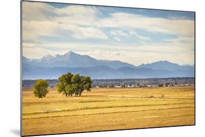 Denver, CO, USA: Landscape Of Rocky Mountain Arsenal National Wildlife Refuge With Rocky Mts Bkgd-Axel Brunst-Mounted Photographic Print