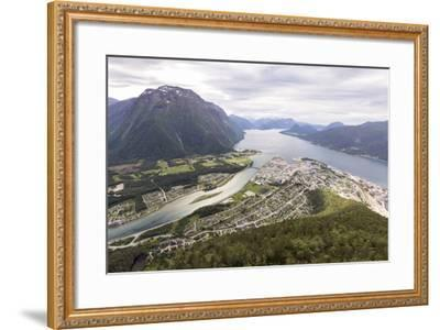 Romsdalseggen Hike, Andalsnes, Romsdalen: The Romsdalseggen Viewing Platform City Of Alesund, NO-Axel Brunst-Framed Photographic Print