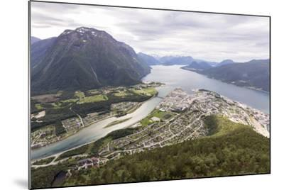 Romsdalseggen Hike, Andalsnes, Romsdalen: The Romsdalseggen Viewing Platform City Of Alesund, NO-Axel Brunst-Mounted Photographic Print