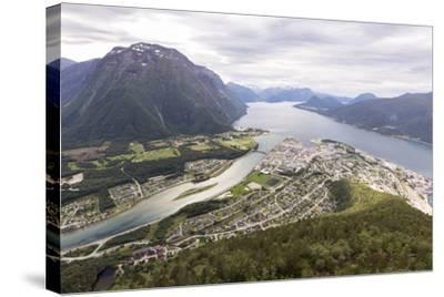 Romsdalseggen Hike, Andalsnes, Romsdalen: The Romsdalseggen Viewing Platform City Of Alesund, NO-Axel Brunst-Stretched Canvas Print