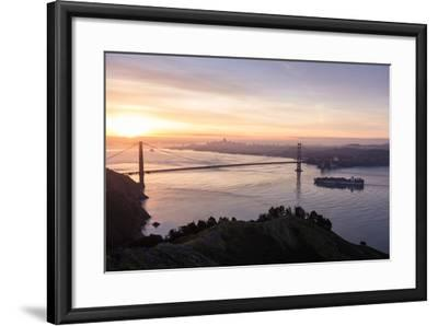 San Francisco, CA, USA: Sunrise View Over The Golden Gate Bridge And The City Of San Francisco-Axel Brunst-Framed Photographic Print