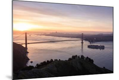 San Francisco, CA, USA: Sunrise View Over The Golden Gate Bridge And The City Of San Francisco-Axel Brunst-Mounted Photographic Print