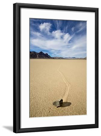 "Death Valley National Park, CA: ""Moving"" Rocks Of The Famous Racetrack-Ian Shive-Framed Photographic Print"