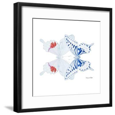 Miss Butterfly Duo Parisuthus Sq - X-Ray White Edition-Philippe Hugonnard-Framed Photographic Print