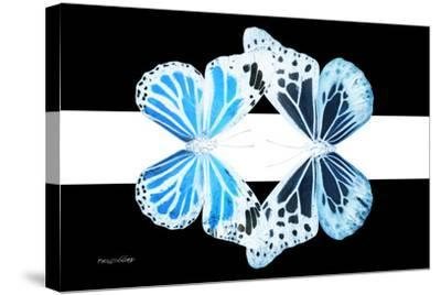 Miss Butterfly Duo Genuswing - X-Ray B&W Edition II-Philippe Hugonnard-Stretched Canvas Print