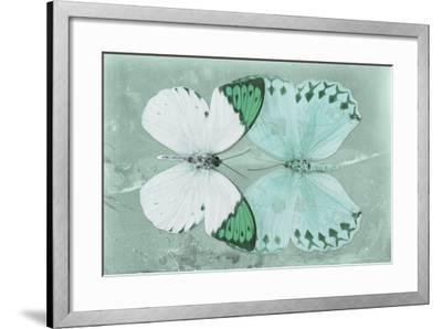 Miss Butterfly Duo Formoia - Coral Green-Philippe Hugonnard-Framed Photographic Print