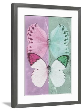 Miss Butterfly Duo Formoia - Pink & Coral Green-Philippe Hugonnard-Framed Photographic Print