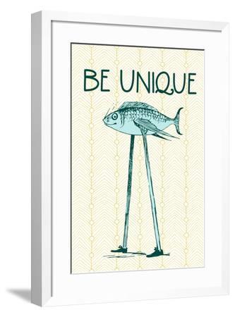 Be Unique--Framed Poster
