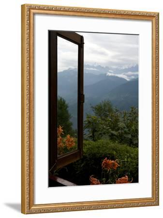 Singalila Ridge And Sikkim Landscape Seen From A Window-Steve Winter-Framed Photographic Print