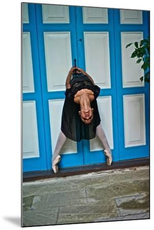 A Classical Ballerina In The Colonial Streets Of Old Havana-Kike Calvo-Mounted Photographic Print