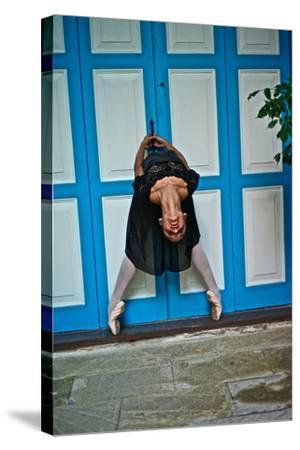 A Classical Ballerina In The Colonial Streets Of Old Havana-Kike Calvo-Stretched Canvas Print