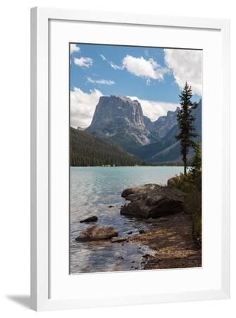 The Shore Of Upper Green River Lake And Square Top Mountain-Greg Winston-Framed Photographic Print