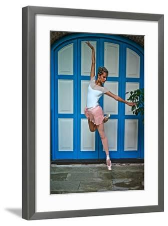 Ballet In The Colonial Streets Of Old Havana-Kike Calvo-Framed Photographic Print