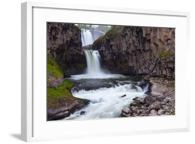 A Long Time Exposure Of White River Falls A Powerful Multi-Tiered Waterfall-Greg Winston-Framed Photographic Print