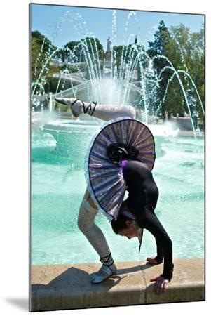 A Spanish Contortionist And Dancer In A Aragonese Jotera Style Tutu-Kike Calvo-Mounted Photographic Print