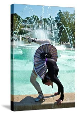 A Spanish Contortionist And Dancer In A Aragonese Jotera Style Tutu-Kike Calvo-Stretched Canvas Print