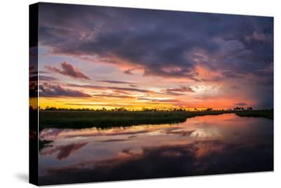 Sunset Above Botswana's Okavango Delta-Beverly Joubert-Stretched Canvas Print