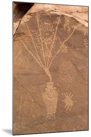 Petroglyph Shapes And Figures Carved Into Sandstone, Dinosaur National Monument-Mike Cavaroc-Mounted Photographic Print