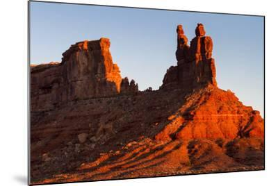 The Morning Sun Hits The Eastern Side Of Buttes In Valley Of The Gods, Utah-Mike Cavaroc-Mounted Photographic Print