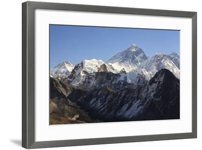 Mount Everest From Gokyo Ri. Sagarmatha National Park. Solukhumbu District. Nepal-Oscar Dominguez-Framed Photographic Print