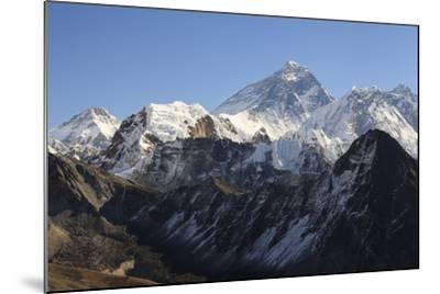 Mount Everest From Gokyo Ri. Sagarmatha National Park. Solukhumbu District. Nepal-Oscar Dominguez-Mounted Photographic Print