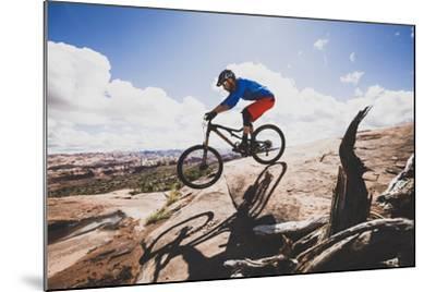 Ben Duke Mountain Biking Captain Ahab Trail, Moab, Utah-Louis Arevalo-Mounted Photographic Print