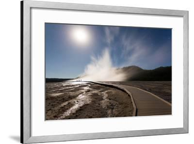 Family Doing Photography, Grand Prismatic Spring, Midway Geyser Basin, Yellowstone NP, Wyoming-Mike Cavaroc-Framed Photographic Print