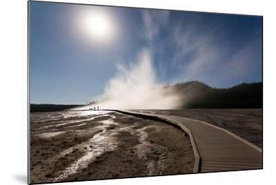 Family Doing Photography, Grand Prismatic Spring, Midway Geyser Basin, Yellowstone NP, Wyoming-Mike Cavaroc-Mounted Photographic Print