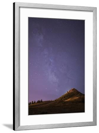 """The Milky Way The """"Big M"""" In Uptown Butte, Montana-Austin Cronnelly-Framed Photographic Print"""