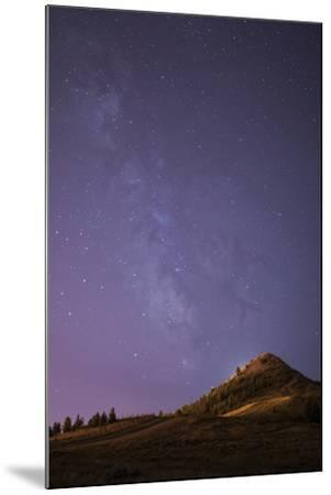 """The Milky Way The """"Big M"""" In Uptown Butte, Montana-Austin Cronnelly-Mounted Photographic Print"""
