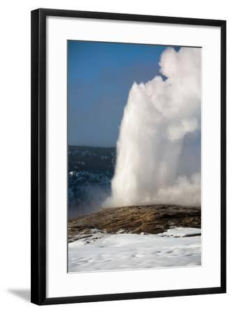 A Steamy Old Faithful In Winter In Yellowstone National Park-Ben Herndon-Framed Photographic Print