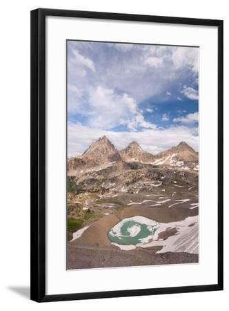 Vertical View Of The Backside Of The Tetons From Hurricane Pass In Grand Teton NP, Wyoming-Austin Cronnelly-Framed Photographic Print