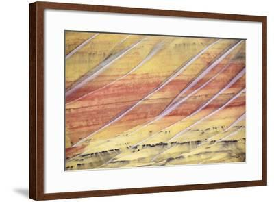 The Painted Hills In The John Day Fossil Beds National Monument In Eastern Oregon-Ben Herndon-Framed Premium Photographic Print