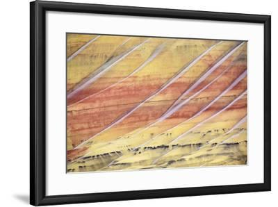 The Painted Hills In The John Day Fossil Beds National Monument In Eastern Oregon-Ben Herndon-Framed Photographic Print