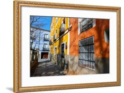 Bekah Herndon Goes For A Run In The Colorful Medieval Old Town Section Of Cuenca, Spain-Ben Herndon-Framed Photographic Print