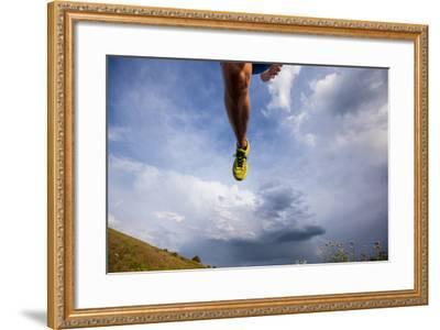 Ian Engerbretson Evening Run On Scenic Road Up Steptoe Butte SP, E Washington State At Sunset-Ben Herndon-Framed Photographic Print