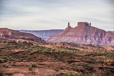 Castleton Tower & The Rectory As Seen From The Fisher Towers Campground - Moab, Utah-Dan Holz-Framed Photographic Print