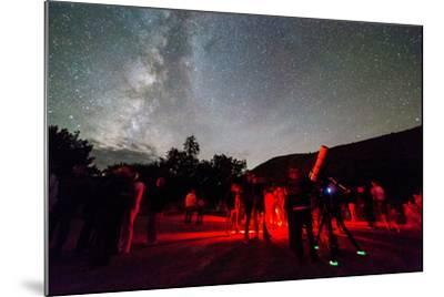 A Star Party Taking Place Below A Brilliant Night Sky, Capitol Reef National Park, Utah-Mike Cavaroc-Mounted Photographic Print