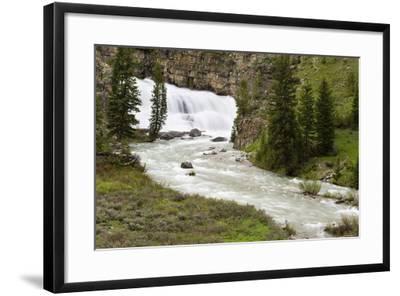 Granite Falls Along Granite Creek, Bridger-Teton National Forest, Wyoming-Mike Cavaroc-Framed Photographic Print
