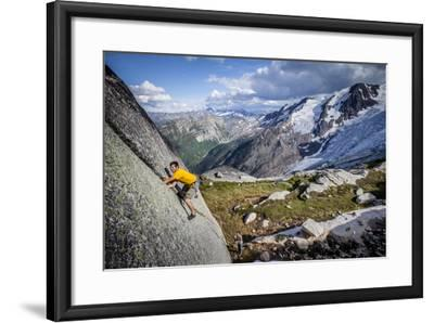 Adam Osuchowski Finds Short 5.8 Trad Line, Applebee Camp, Bugaboos Provincial Park, BC, Columbia-Dan Holz-Framed Photographic Print