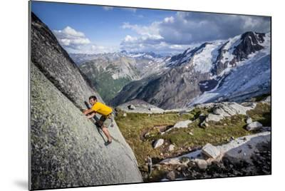Adam Osuchowski Finds Short 5.8 Trad Line, Applebee Camp, Bugaboos Provincial Park, BC, Columbia-Dan Holz-Mounted Photographic Print