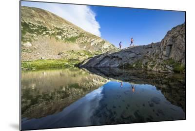 Mayan Smith-Gobat & Ben Rueck Go For High Elevation Trail Run, Backcountry Of Above Marble, CO-Dan Holz-Mounted Photographic Print
