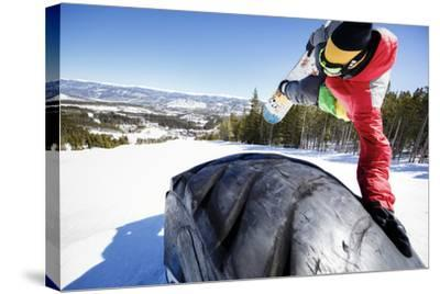 Ricky Bates Riding The Park At Breckenridge Mountain, Colorado, March 2014-Louis Arevalo-Stretched Canvas Print