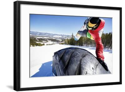 Ricky Bates Riding The Park At Breckenridge Mountain, Colorado, March 2014-Louis Arevalo-Framed Photographic Print