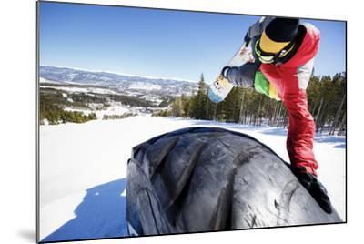 Ricky Bates Riding The Park At Breckenridge Mountain, Colorado, March 2014-Louis Arevalo-Mounted Photographic Print